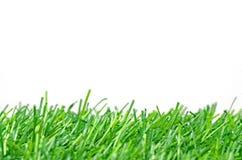 Искусственная дерновина для футбольного поля на белой предпосылке Стоковая Фотография RF