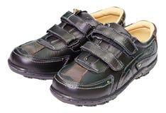 искусственная кожа сделала ботинки просто Стоковое фото RF