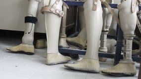 Искусственная нога treatmenta медицинского оборудования пластикового стоковая фотография rf
