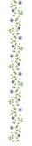 искусственний декоративный орнамент цветков Стоковые Изображения RF