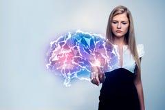 искусственний мозг обходит вокруг mainboard электронной сведении принципиальной схемы сверх Стоковое Изображение RF