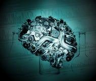 искусственний мозг Стоковое Изображение RF