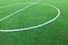 искусственний футбол травы поля Стоковая Фотография