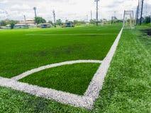 искусственний футбол травы поля Стоковое фото RF