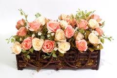 искусственним белизна предпосылки изолированная цветком Стоковые Фото