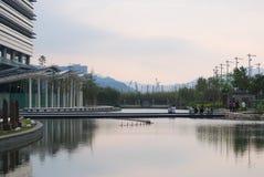 Искусственное озеро в научном парке Гонконга Стоковое Фото