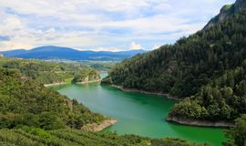искусственное покрашенное озеро Стоковая Фотография RF