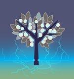 Искусственное электрическое дерево иллюстрация штока