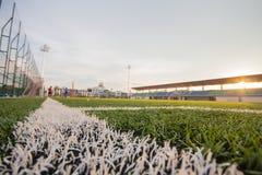 Искусственные картина и стадион дерновины Стоковая Фотография RF