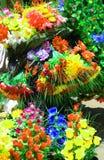 Искусственные красочные пуки цветка к продаже стоковая фотография