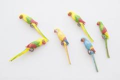 Искусственные птицы, детали ремесленничества на дисплее, Kolkata Стоковые Фотографии RF