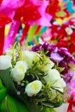 Искусственные розы. Стоковое Фото