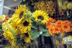 Искусственные солнцецветы Стоковые Фотографии RF