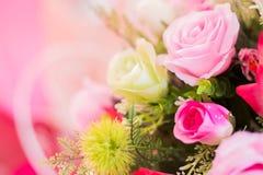 Искусственные цветки букета Стоковое Фото
