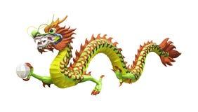 Искусственный бумажный изолированный дракон стоковые изображения rf
