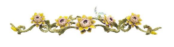 Искусственный изолированный цветок букета стоковые фото