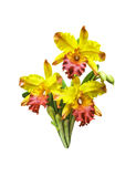 Искусственный изолированный цветок орхидеи букета стоковое изображение