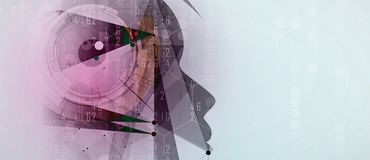 искусственный интеллект Предпосылка сети технологии Виртуальное conc Стоковое Фото