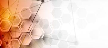 искусственный интеллект Предпосылка сети технологии Виртуальное conc Стоковые Изображения RF