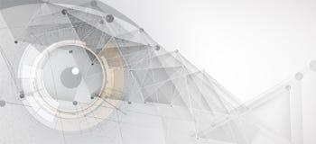 искусственный интеллект Предпосылка сети технологии Виртуальное conc Стоковое Изображение RF