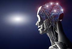 искусственный интеллект иллюстрация вектора