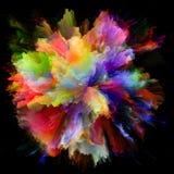 Искусственный красочный взрыв выплеска краски стоковое изображение rf