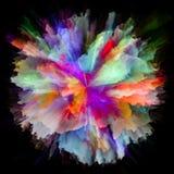 Искусственный красочный взрыв выплеска краски стоковое изображение