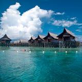 Искусственный остров Kapalai дорожки Стоковое Изображение