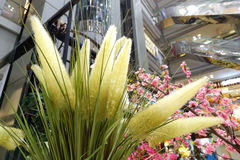 Искусственный тростник цветет украшение стоковое изображение