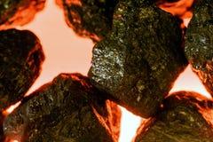 Искусственный уголь и поддельный огонь Стоковое фото RF