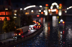 Искусственный экземпляр Санкт-Петербурга на ноче Стоковое Изображение