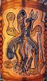 Искусство Австралии аборигенное родное Стоковое фото RF