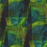 Искусство акварели голубого зеленого цвета предпосылки безшовное Стоковая Фотография RF