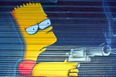 Искусство Барт Симпсон улицы Стоковые Фотографии RF