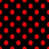 Искусство безшовного дизайна предпосылки вектора картины точек польки винтажного ретро абстрактного красочное с кругом формирует  Стоковое Изображение RF
