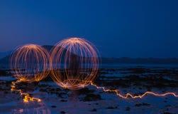 Искусство бенгальского огня Стоковые Фотографии RF