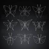 Искусство бумаги бабочки Origami творческое Стоковые Фотографии RF
