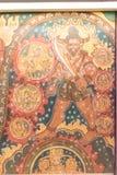 Искусство буддиста настенной росписи Стоковые Фотографии RF