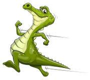 Искусство вектора аллигатора идущее бесплатная иллюстрация
