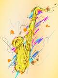Искусство вектора картины саксофона иллюстрация вектора