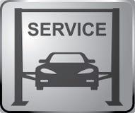 Искусство вектора обслуживания знака автоматическое Вектор дизайна знамени Подъем Джека гидравлический Стоковая Фотография