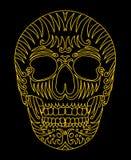 Искусство вектора черепа татуировки племенное мексиканское Стоковая Фотография RF