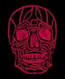 Искусство вектора черепа татуировки племенное мексиканское Стоковые Фотографии RF