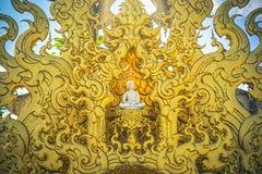 Искусство виска Wat Rong Khun в Chiang Rai Таиланде стоковая фотография rf