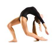 Искусство включенное маленькой девочкой гимнастическое Стоковые Изображения RF