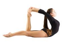 Искусство включенное маленькой девочкой гимнастическое Стоковые Фото