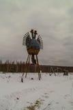 Искусство возражает в деревне Nikola-Lenivets зоны Kaluga России Стоковое Изображение RF