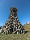 Искусство возражает в деревне Nikola-Lenivets зоны Kaluga России Стоковые Фото