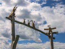 Искусство возражает в деревне Nikola-Lenivets зоны Kaluga России Стоковые Изображения RF