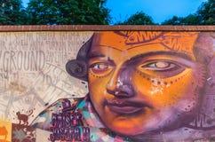Искусство граффити в вене Стоковые Изображения